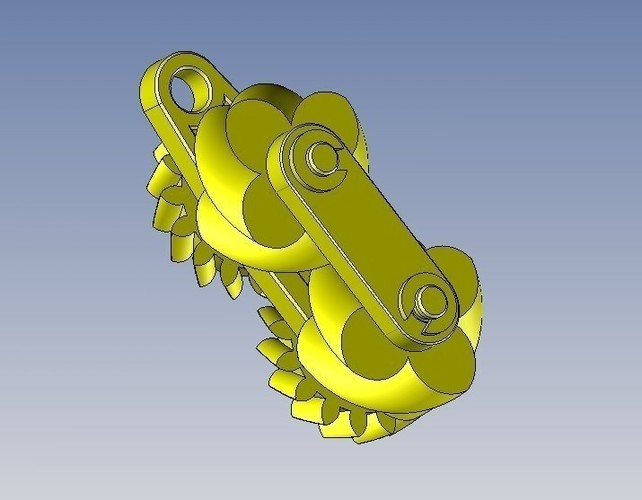 Gears paradoxical- engrenage paradoxal 3D Print 107068