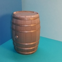 Small Tonneau - puzzle - Barrel BORDEAUX - option tirelire - piggy ban 3D Printing 107156