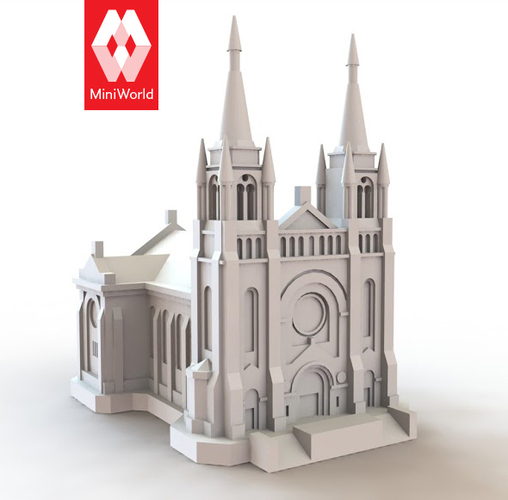 Sioux Falls Cathedral, South Dakota 3D Print 10717