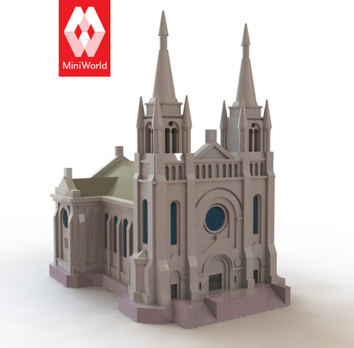 Sioux Falls Cathedral, South Dakota 3D Print 10718