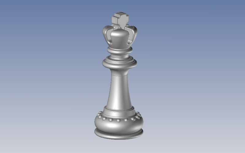 Chess - pièces - le Roi- The King 3D Print 107284