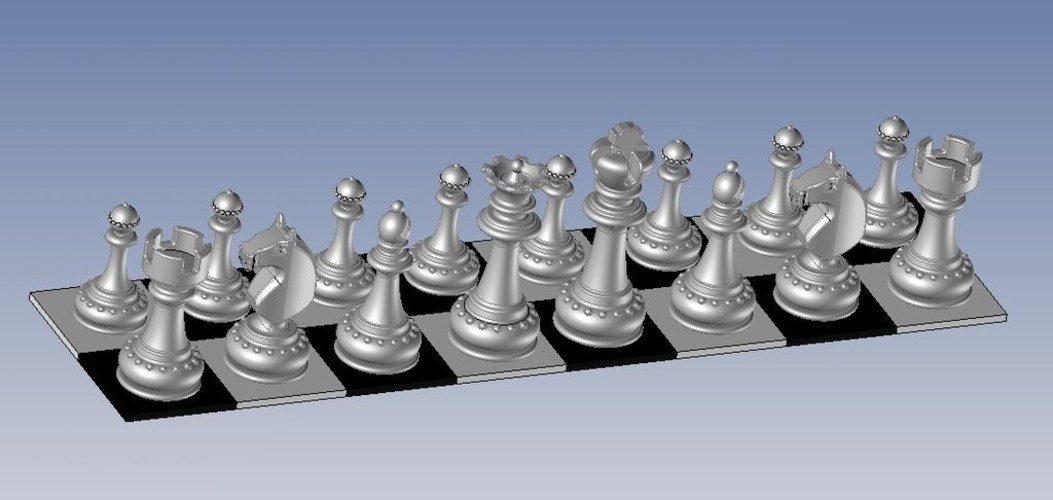 Chess - pièces - le Roi- The King 3D Print 107285