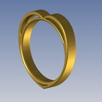 Small Heart ring -  Bague coeur 3D Printing 107386