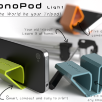 Small MonoPod Light 3D Printing 107572