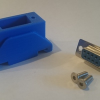 Small DIN Rail DB9 Connector Mount 3D Printing 107592