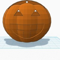 Small Halloween 2014 Trick or Treat Pumpkin with handle 3D Printing 107599