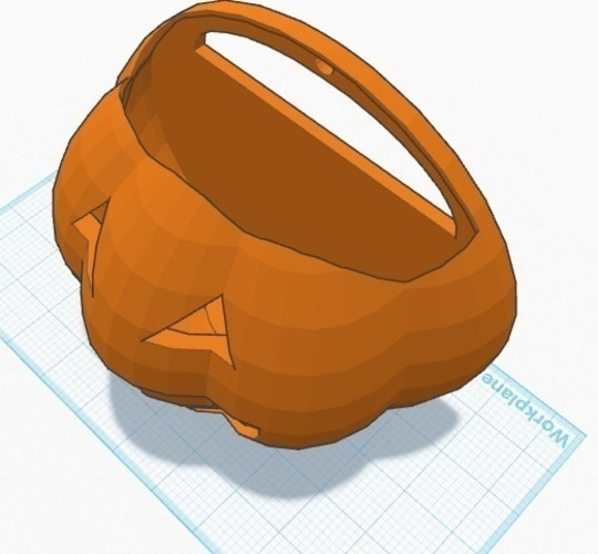 Halloween 2014 Trick or Treat Pumpkin with handle 3D Print 107600