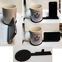 Small Coffee Coaster and iPhone Holder for Desk **UPDATED VERSION 3D Printing 107608