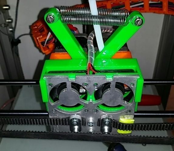 Snap on fan holder for Creatr and XL - final version 3D Print 107677