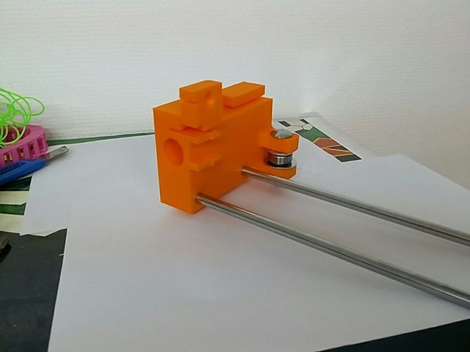 Wide stable y Axis guide bearing mounts for Creatr and Creatr XL 3D Print 107694