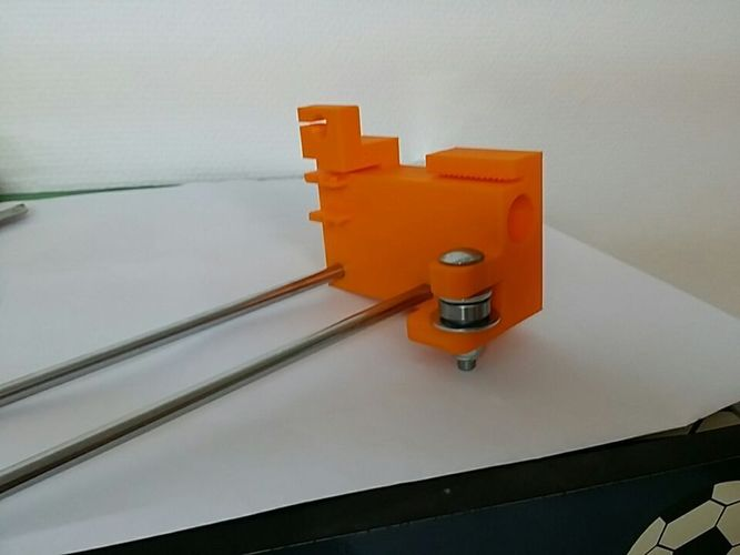 Wide stable y Axis guide bearing mounts for Creatr and Creatr XL 3D Print 107695