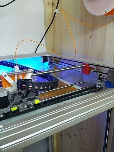 Stabilising 12 mm top rail with 12 mm bearings for spring loaded 3D Print 107705