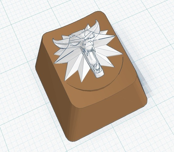 Witcher Wolf Key Cap - for Cherry MX boards 3D Print 107737