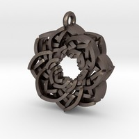 Small Layered Flower Necklace Pendant 3D Printing 10779