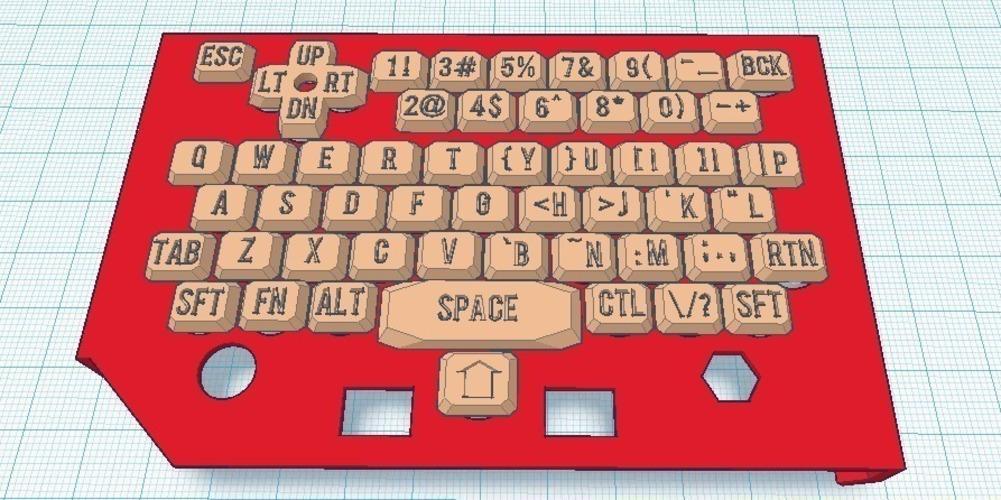 3D Printed Paratyphi'sPocketChipHalfCover-Lettered Keys