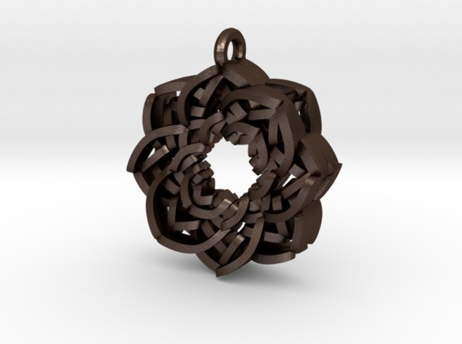 Layered Flower Necklace Pendant 3D Print 10780