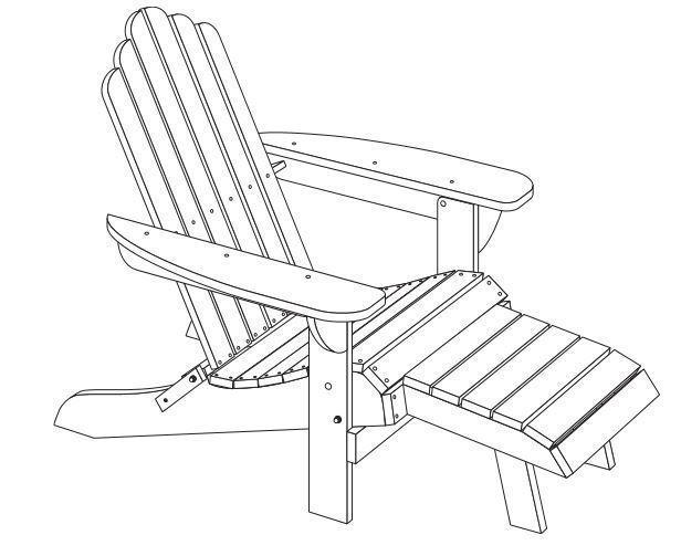 adirondack chair sketch wood craft 3d printed adirondack chair by cstasek pinshape