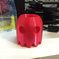 Small PAC-MAN GHOST BLINKY PENCIL HOLDER 3D Printing 107837