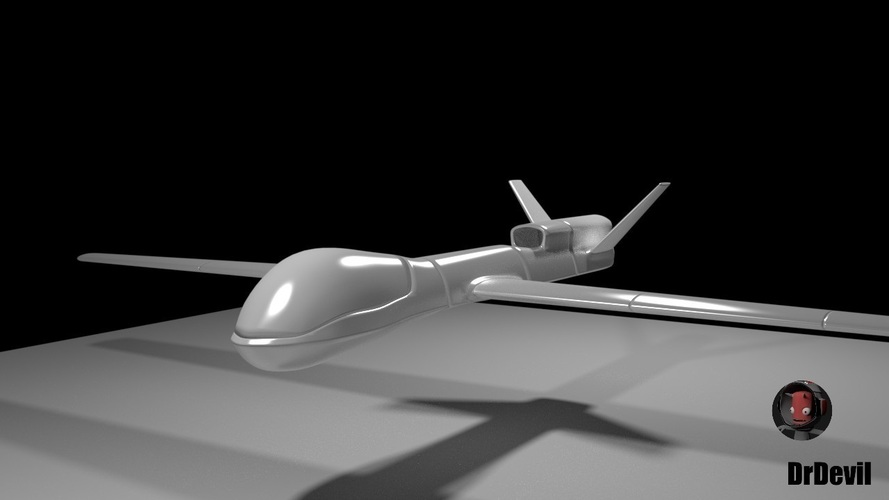 photograph regarding 3d Printable Drone referred to as Dr Devil Predator UAV opportunity RC v1