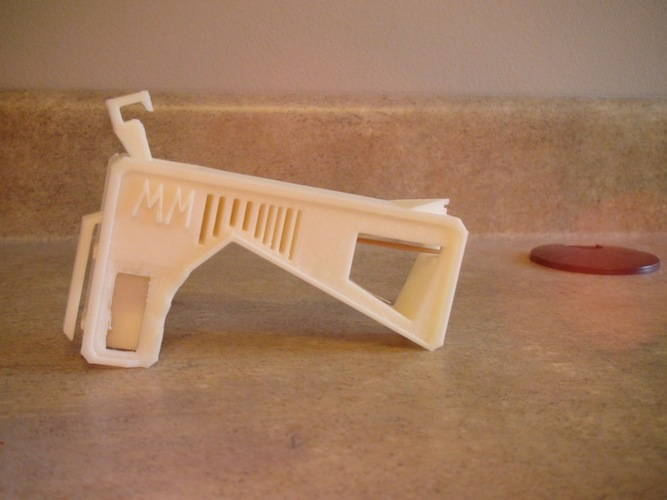 Rubber Band Gun, No assembly required! 3D Print 108015