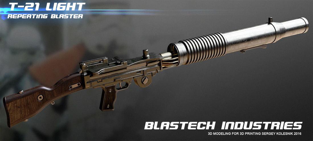 T21 light repeating blaster 3D Print 108065