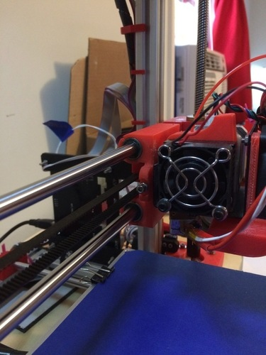 Adjustable Stop X Carriage - Max Micron and other Prusa i3 3D Print 108085