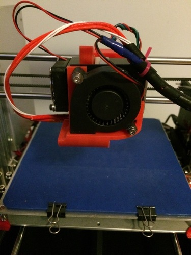 Modified Parts Fan Shroud - Max Micron and other Prusa i3 3D Print 108092