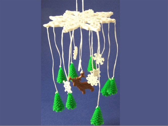 Winter Forest Ornamental Mobile 3D Print 1081