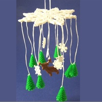 Small Winter Forest Ornamental Mobile 3D Printing 1081