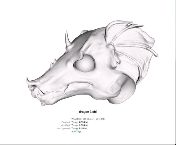 Dragon Head 3D Print 108146