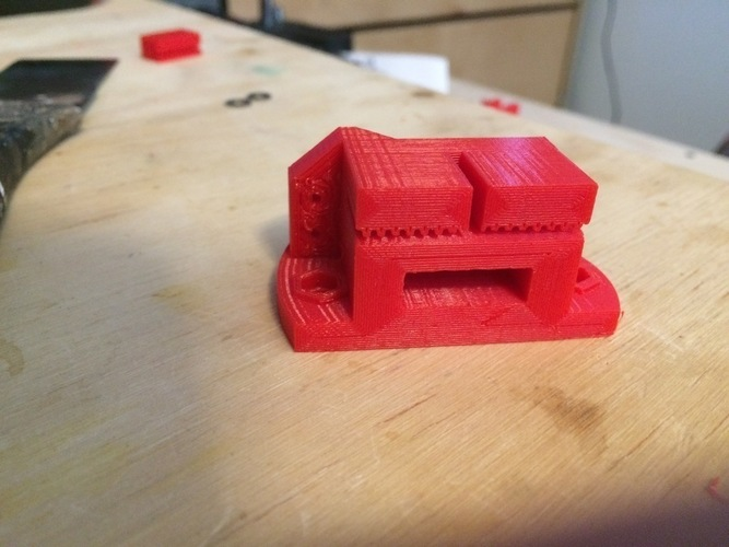 Y carriage/belt mount for i3 clone (Max Micron) 3D Print 108192