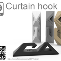 Small Curtain hook 3D Printing 108270