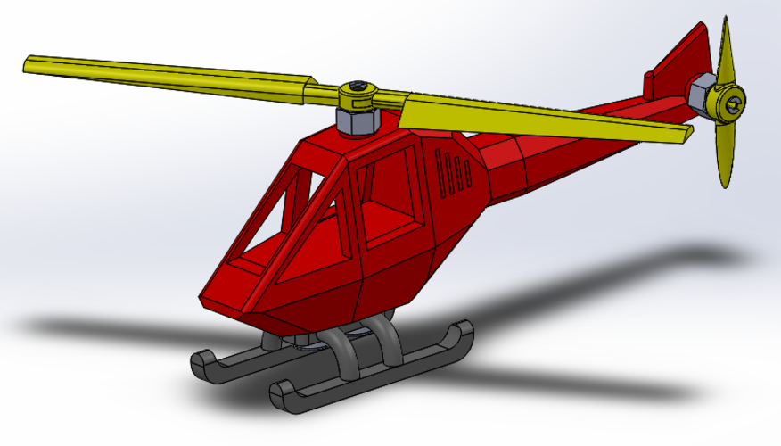 Helicopter puzzle 3D Print 108322