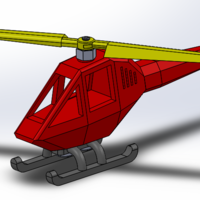 Small Helicopter puzzle 3D Printing 108322
