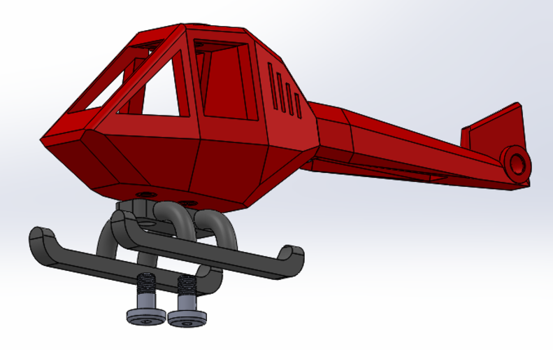 Helicopter puzzle 3D Print 108324