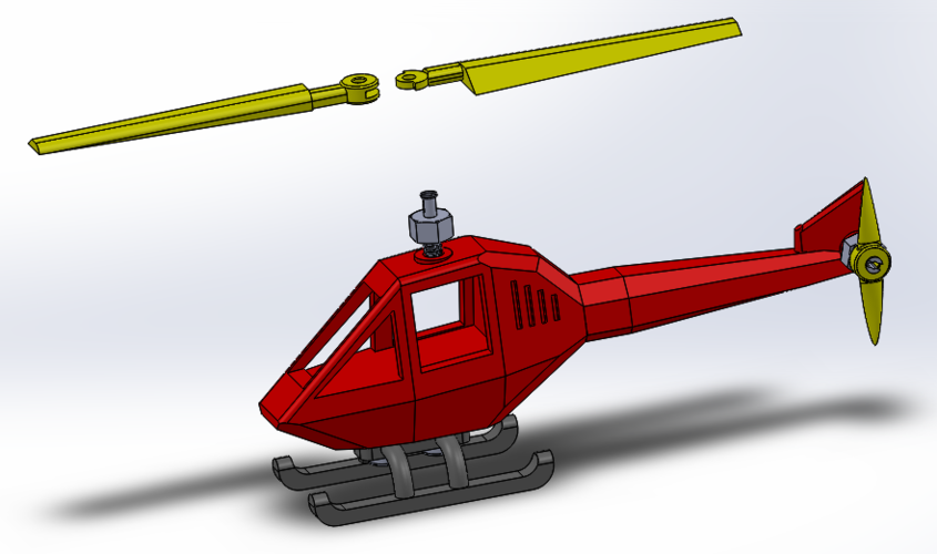 Helicopter puzzle 3D Print 108326