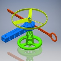 Small Propeller & Spinning Top Launcher 3D Printing 108358