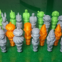 Small 10 Character Whistles 3D Printing 108369