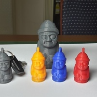 "Small Dolhareubang (""Stone Grandfather"") - Keychain 3D Printing 108371"