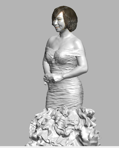 lady in wedding dress 3D Print 108396