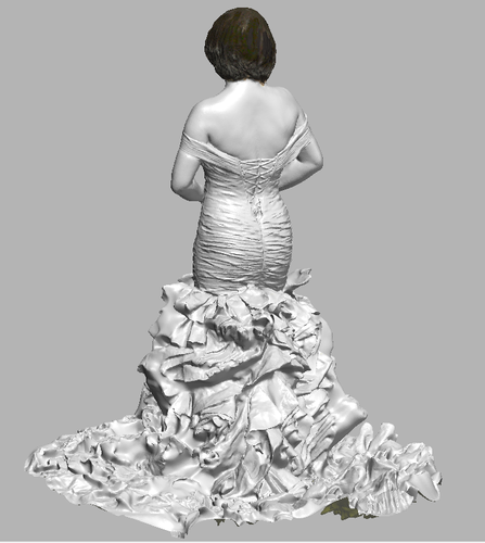 lady in wedding dress 3D Print 108397