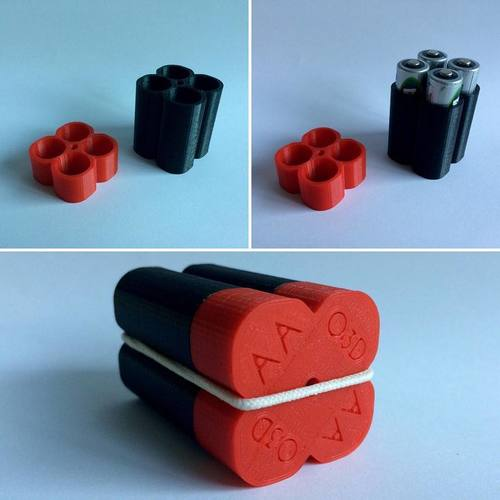 AA Battery Holder O3D 3D Print 108404