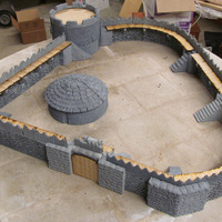 Small Entire Infinite Castle Design Part One 28mm-32mm 3D Printing 108456