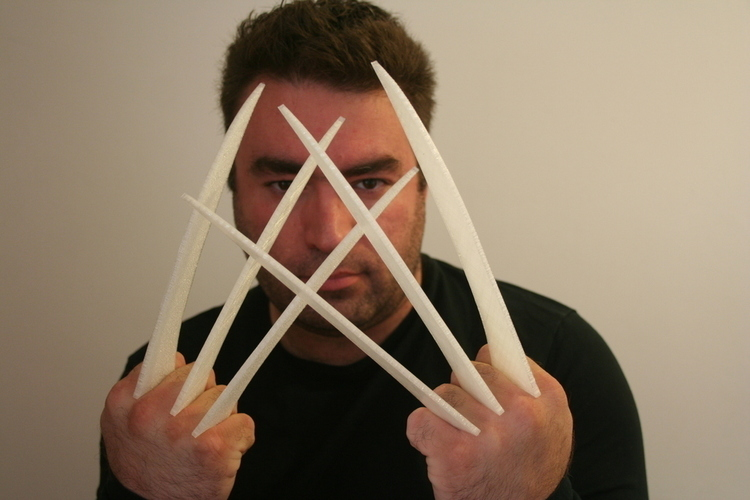 3d printed wolverine claws by miguelaugusto pinshape wolverine claws 3d print 108525 pronofoot35fo Gallery