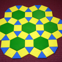 Small Tessellations, hands-on math 3D Printing 108538