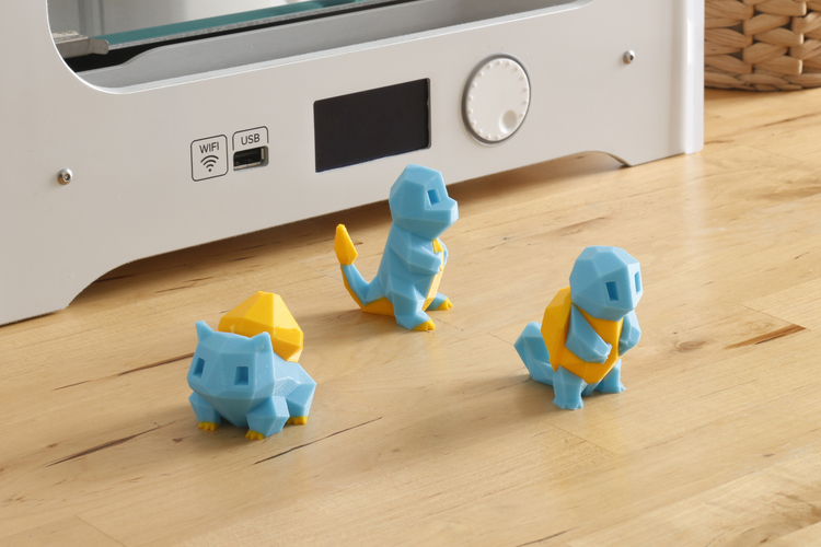 Low-Poly Squirtle - Multi and Dual Extrusion version 3D Print 108544