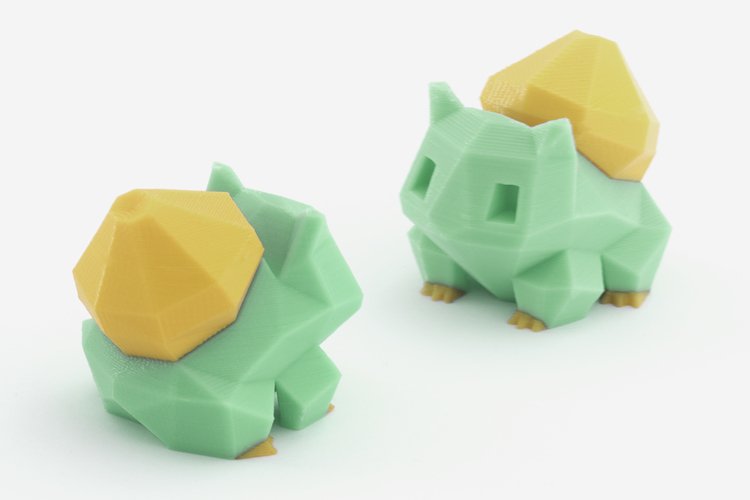 Low-Poly Bulbasaur - Multi and Dual Extrusion version 3D Print 108547