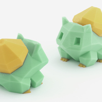 Small Low-Poly Bulbasaur - Multi and Dual Extrusion version 3D Printing 108547