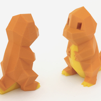 Small Low-Poly Charmander - Multi and Dual Extrusion version 3D Printing 108549