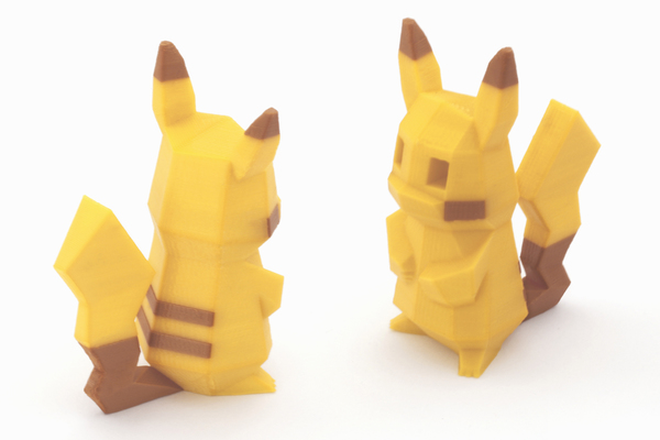 Medium Low-Poly Pikachu - Multi and Dual Extrusion version 3D Printing 108551